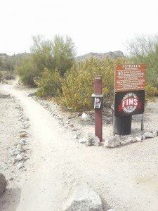 FINS Trailhead, mountain bike trail