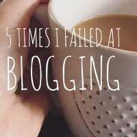 5 Times I Failed at Blogging