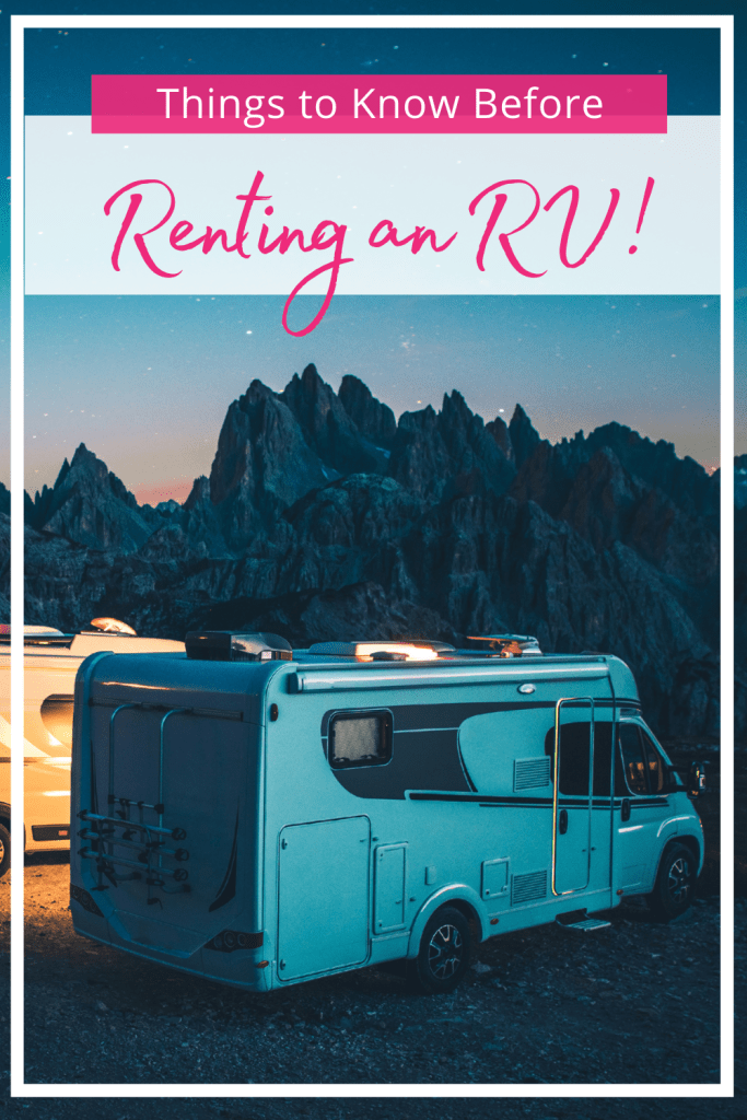 Things to Know Before Renting an RV Pin