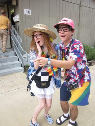 Travel Themed Halloween Costumes- Tacky Tourist