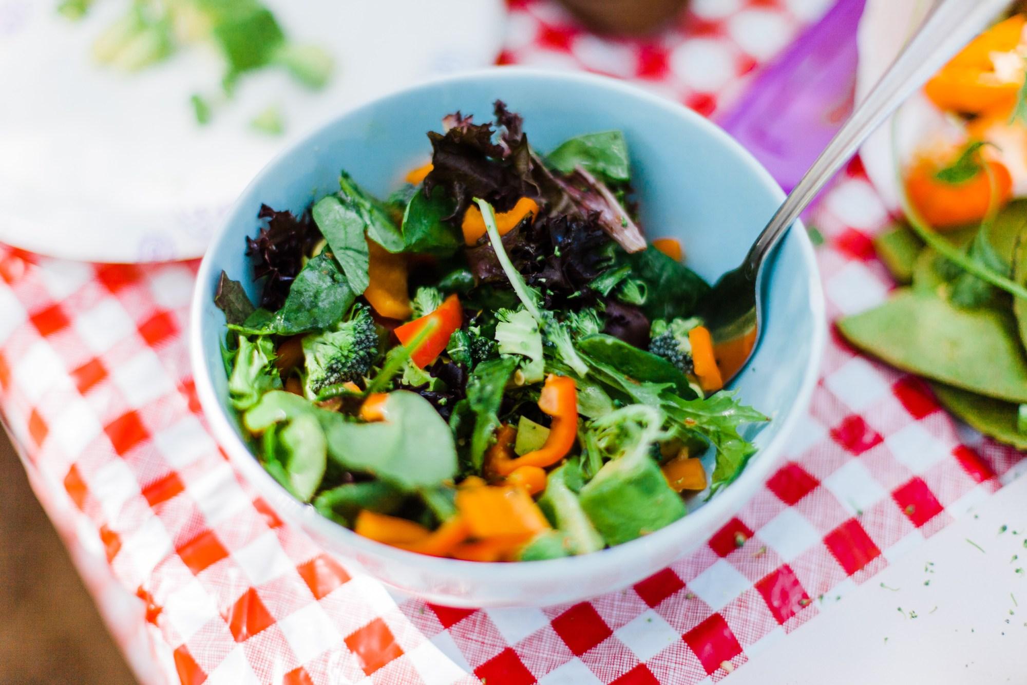 Vegan Salad Camping Lunch