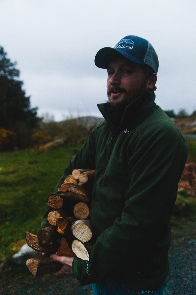 man with firewood ireland