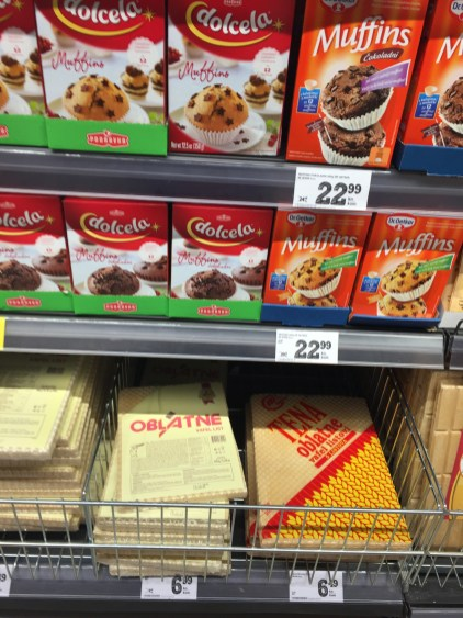 A different assortment of baking products in the Konzum.