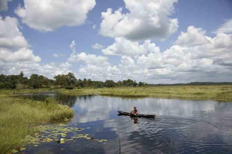 Wild camping in Guyana