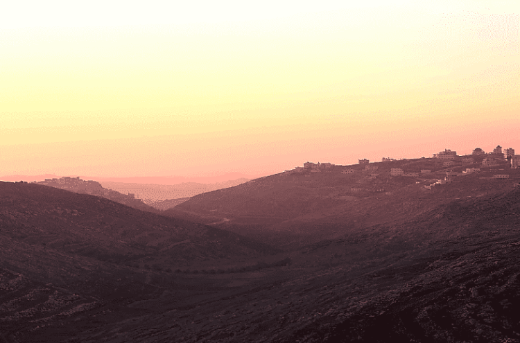 Sunsets in Nablus are pretty spectacular too