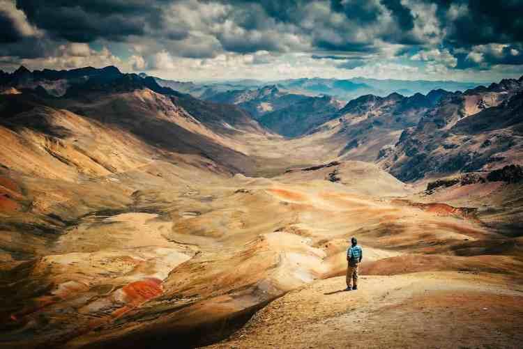 Wild camping in Peru