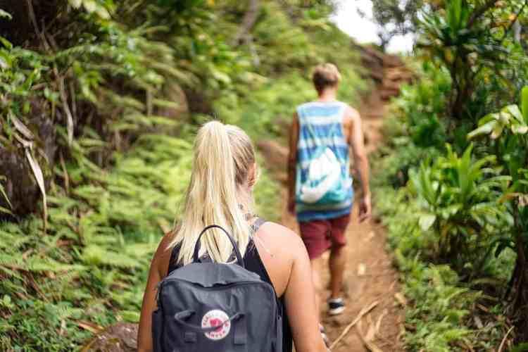 hiking in Bora Bora