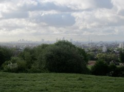 Hampstead Heath looking to central London
