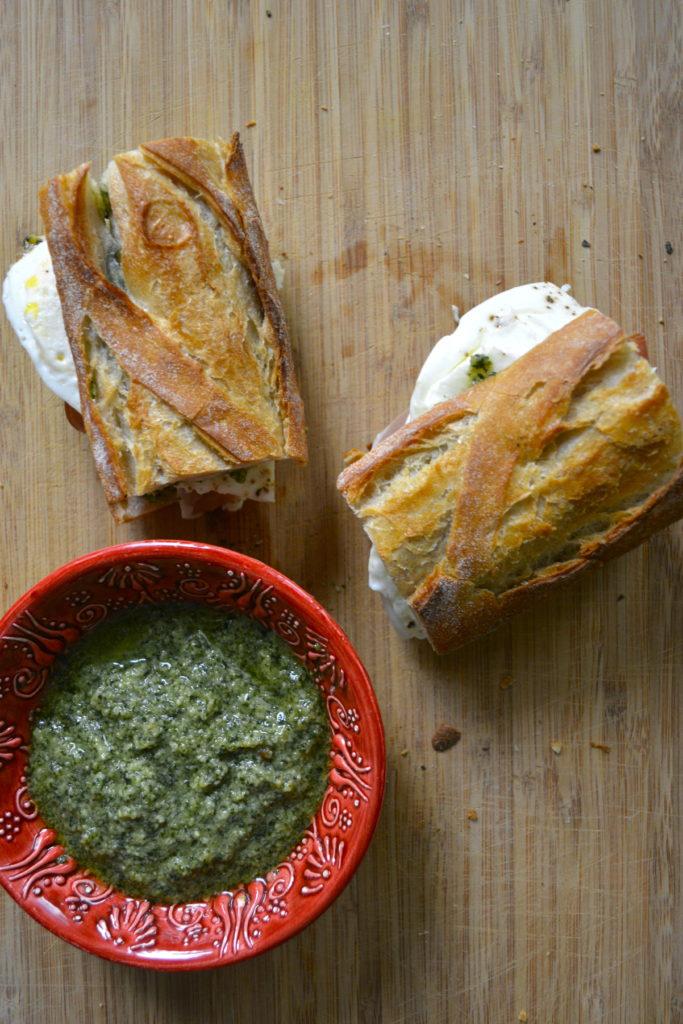 Pesto Mozzarella Breakfast Sandwich
