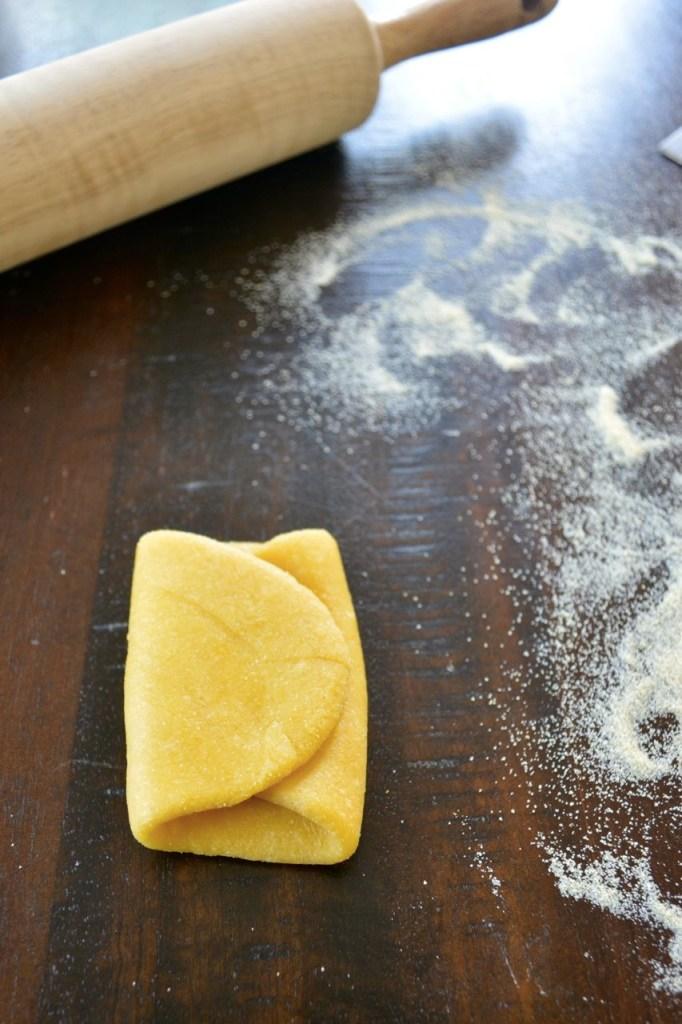 Homemade Fettuccine Noodles - Pasta Dough Folding