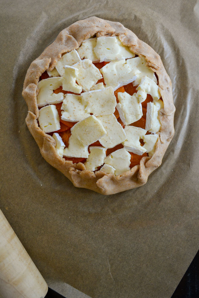 Persimmon and Camembert Galette