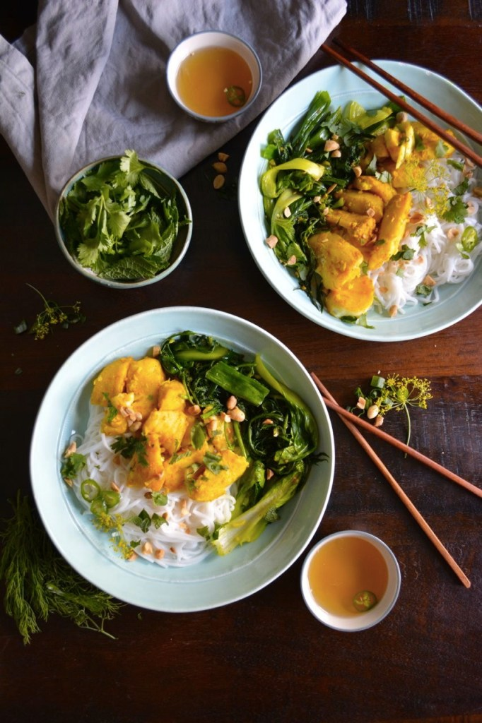 Cha Ca La Vong - Vietnamese Style Fish with Turmeric & Dill