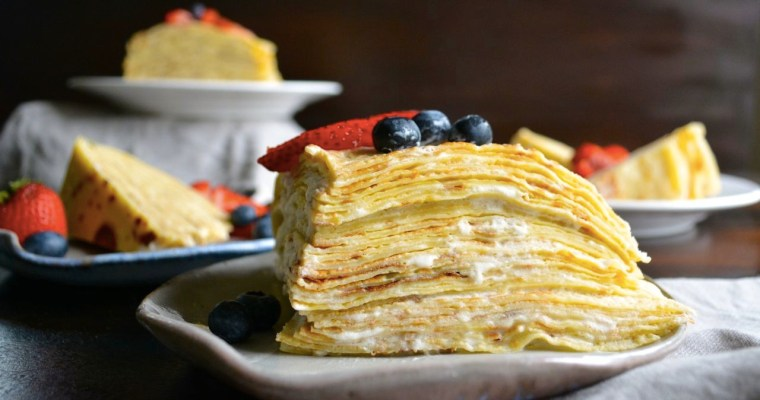 Lemon & Berry Crêpe Cake