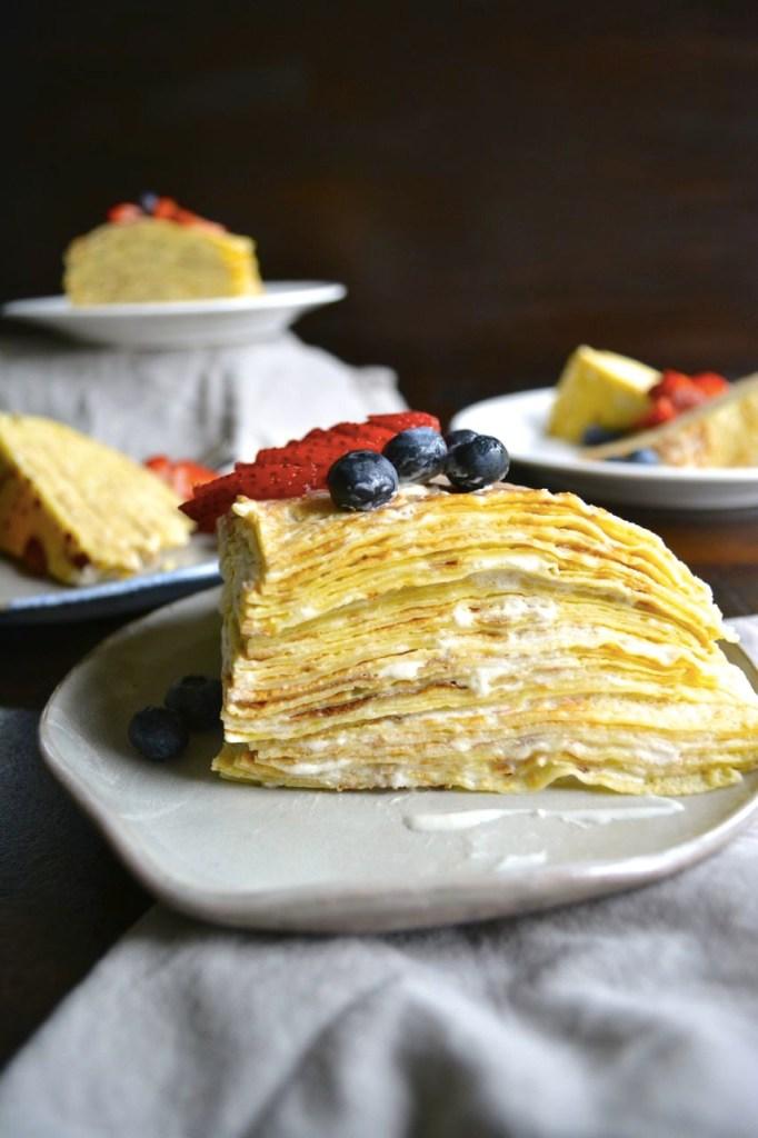 Lemon and Berry Crepe Cake Recipe