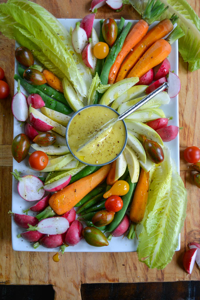 Crudités with Homemade Aioli - an elegant, easy appetizer
