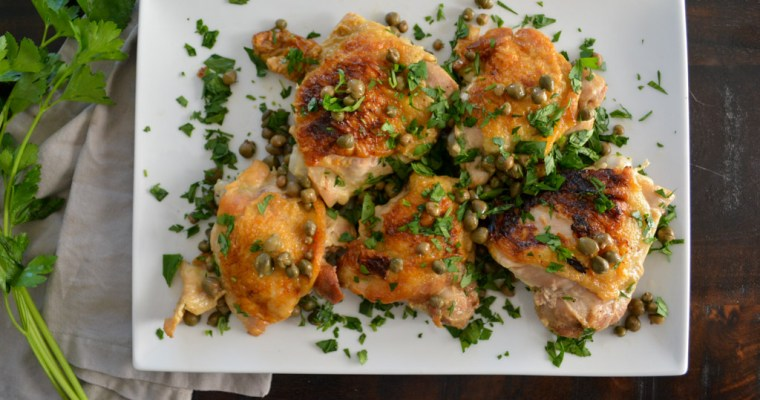 White Wine Braised Chicken Thighs