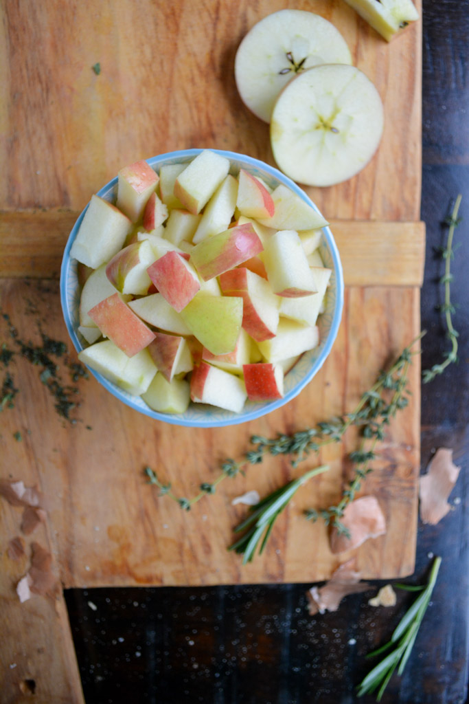 Best Ever Sausage and Apple Stuffing - honeycrisp apples