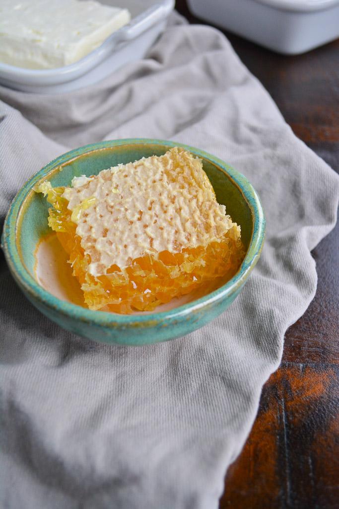 Honeycomb - Baked Feta with Honey & Herbs