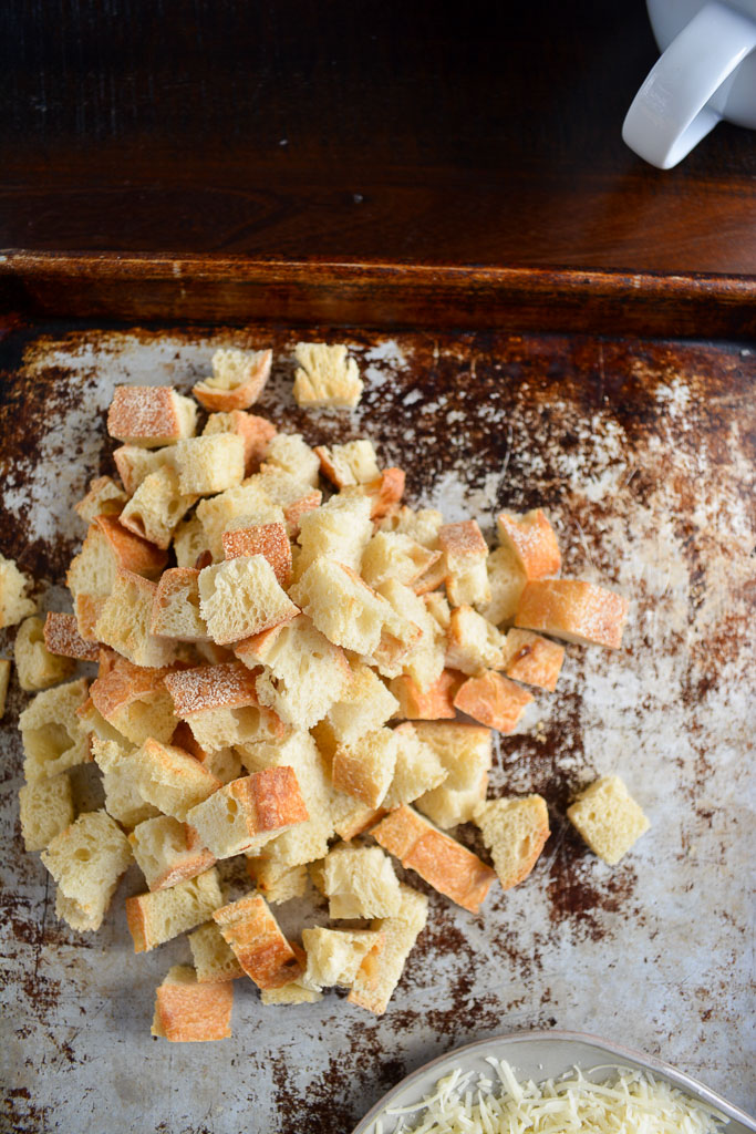 Croutons for Classic French Onion Soup