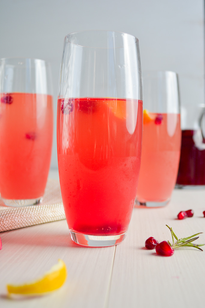 Rosemary Pomegranate French 75