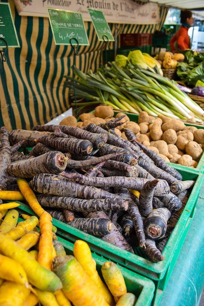 Comprehensive Guide to Paris:  Carrots and Root Vegetables at the Market
