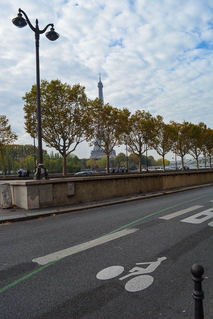 Comprehensive Guide to Paris:  Bike lanes next to the Eiffel Tower