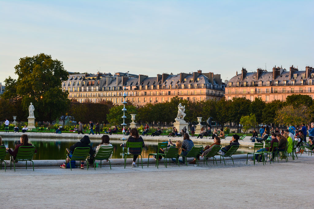 Comprehensive Guide to Paris:  Sunsest in the Tuillerie Gardens