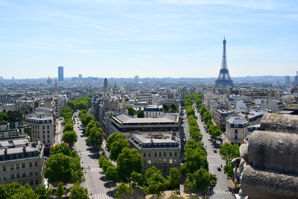 Comprehensive Guide to Paris:  View of Paris from the Arc de Triomphe