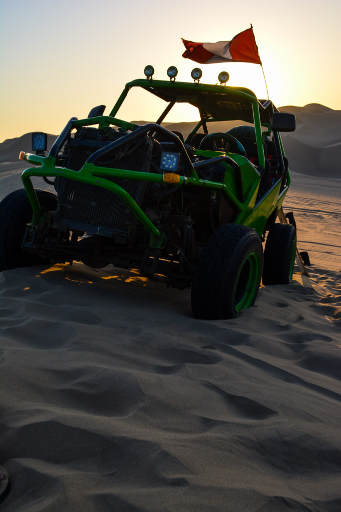 Dune buggy at sunset in Ica, Peru