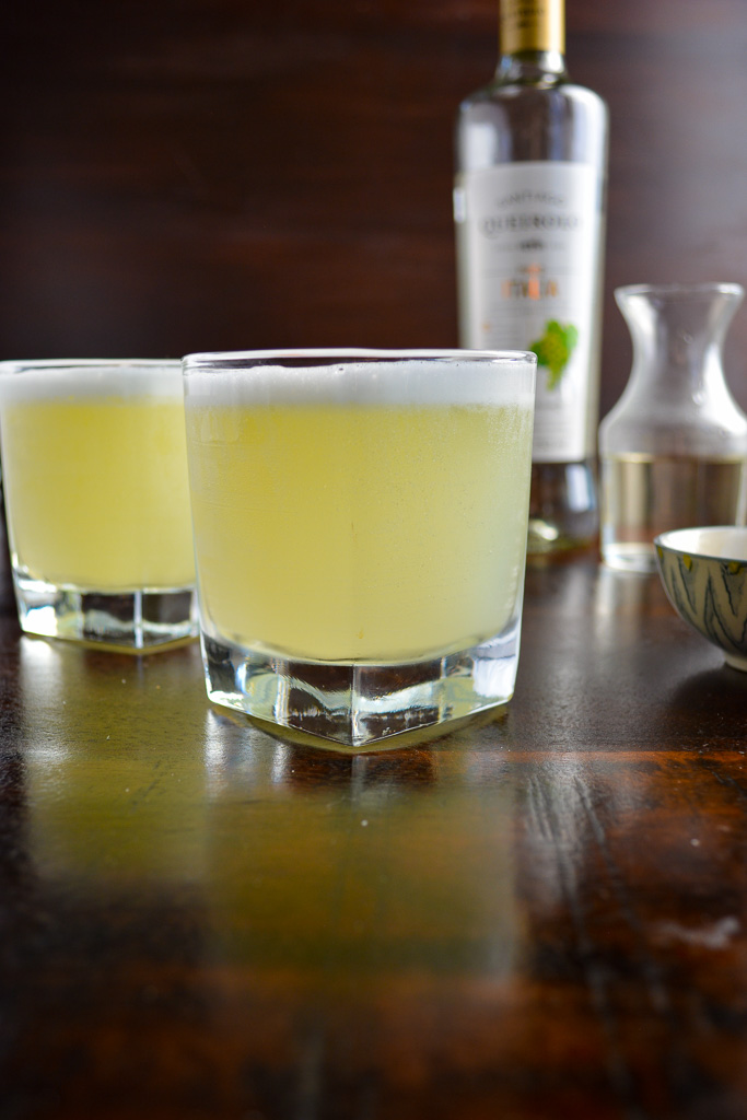Classic Pisco Sour with Lime Juice and Simple Syrup