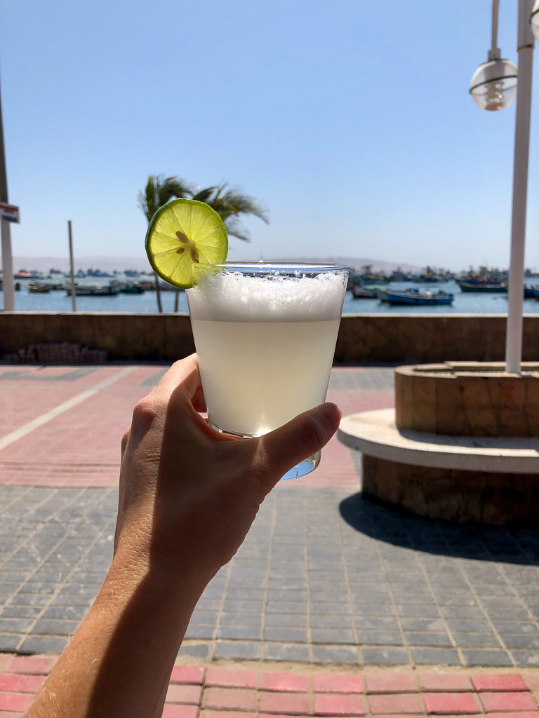 Classic Pisco Sour by the Sea in Paracas, Peru