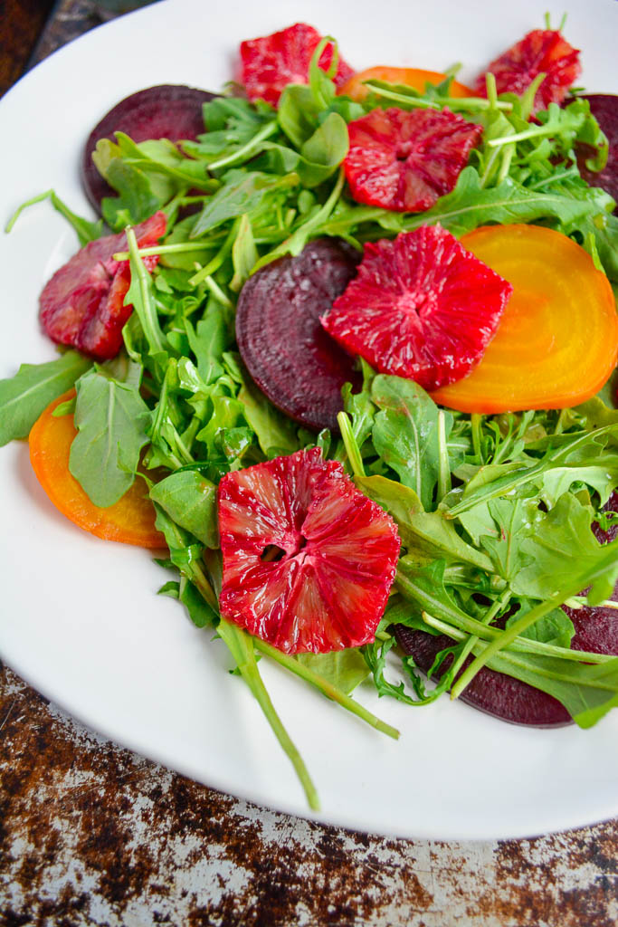 Roasted Beet Salad with Blood Oranges