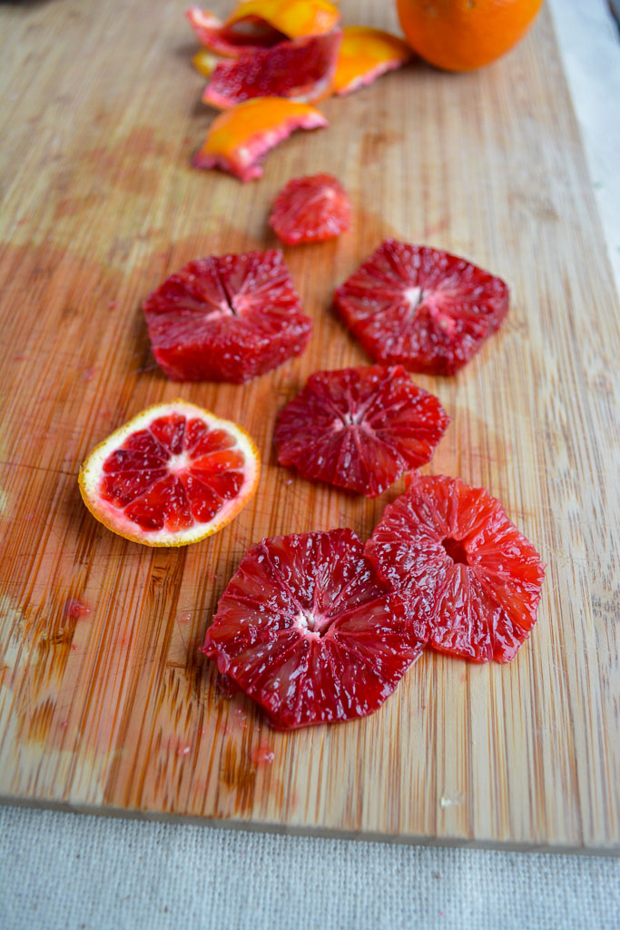 Sliced blood oranges