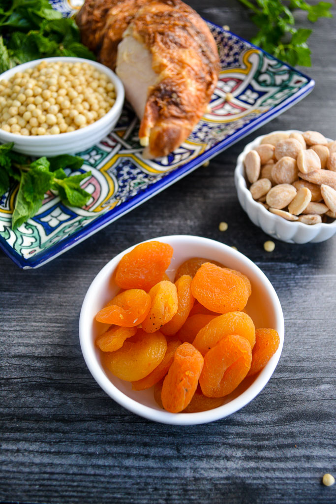 Dried apricots and marcona almonds