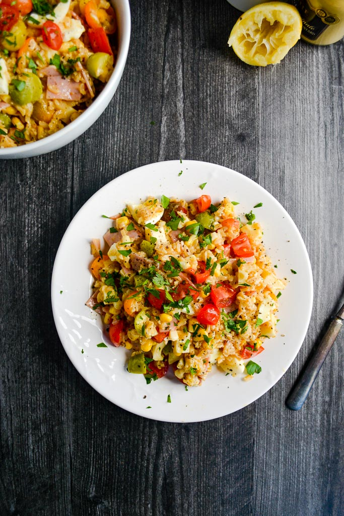 Rice Salad with Homemade Lemon Dijon Vinaigrette