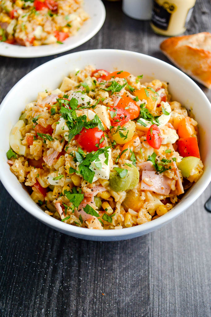 Rice Salad with Homemade Lemon Dijon Vinaigrette