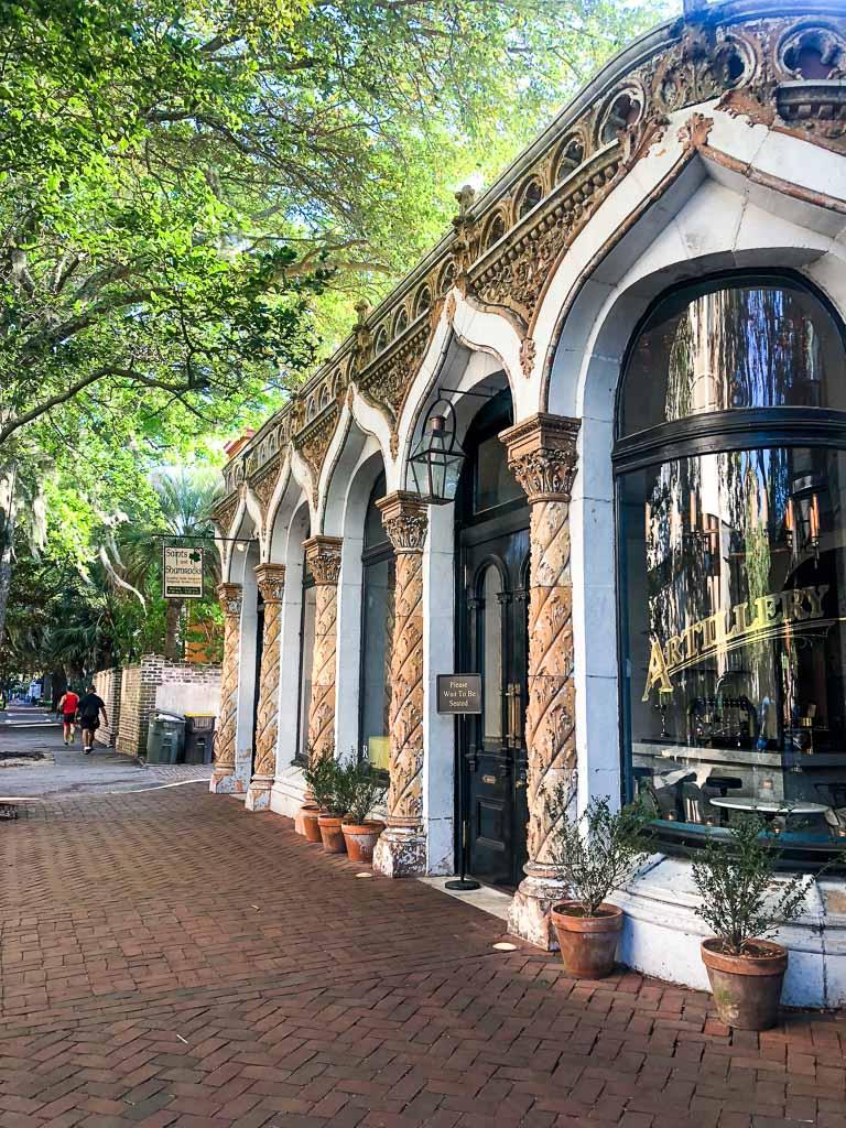 Exterior of the Artillery Bar in Savannah, Georgia