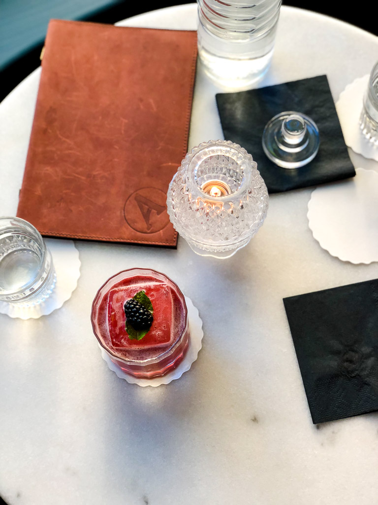 Cocktail at Artillery Bar in Savannah, Georgia