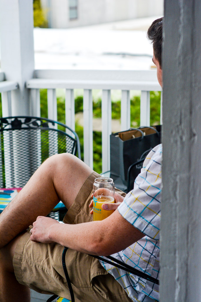 Porch at Two Tides Brewing Company in Savannah, Georgia
