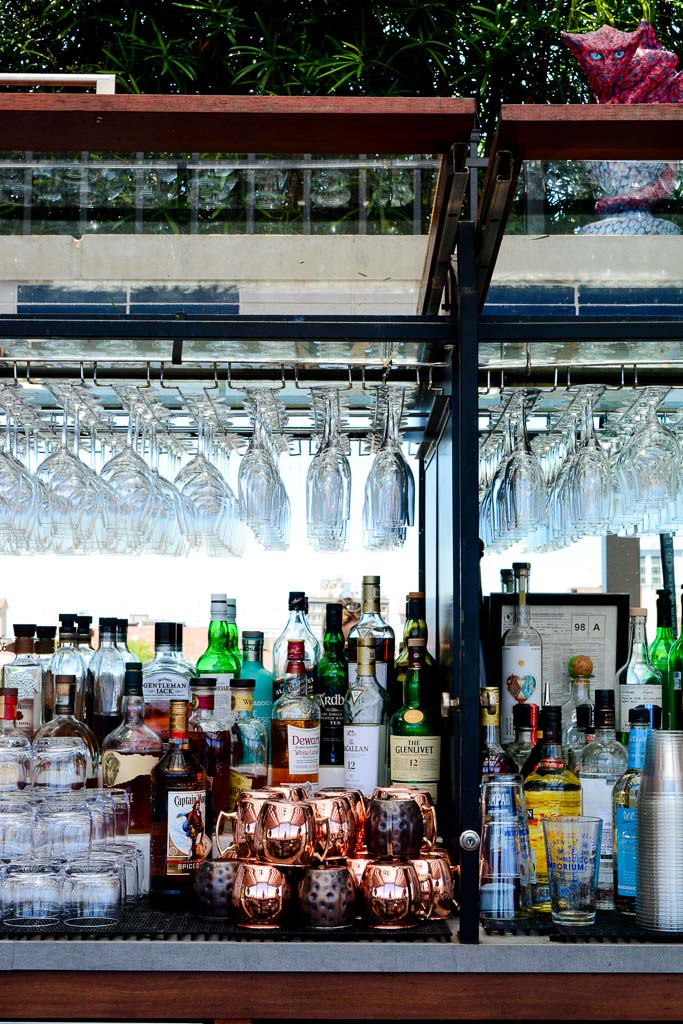 Bar at the Peregrin Rooftop Lounge in Savannah, Georgia