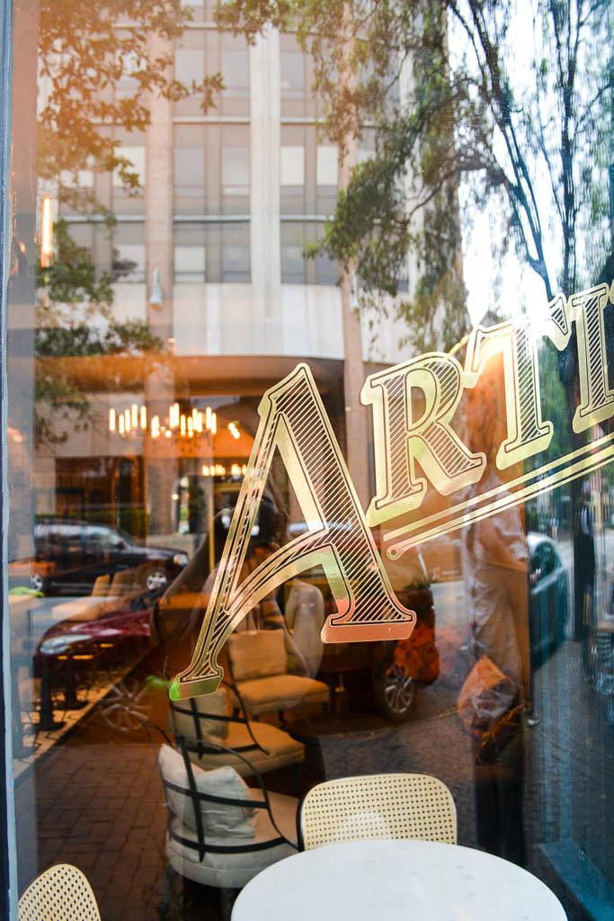 Window of Artillery Bar in Savannah, Georgia