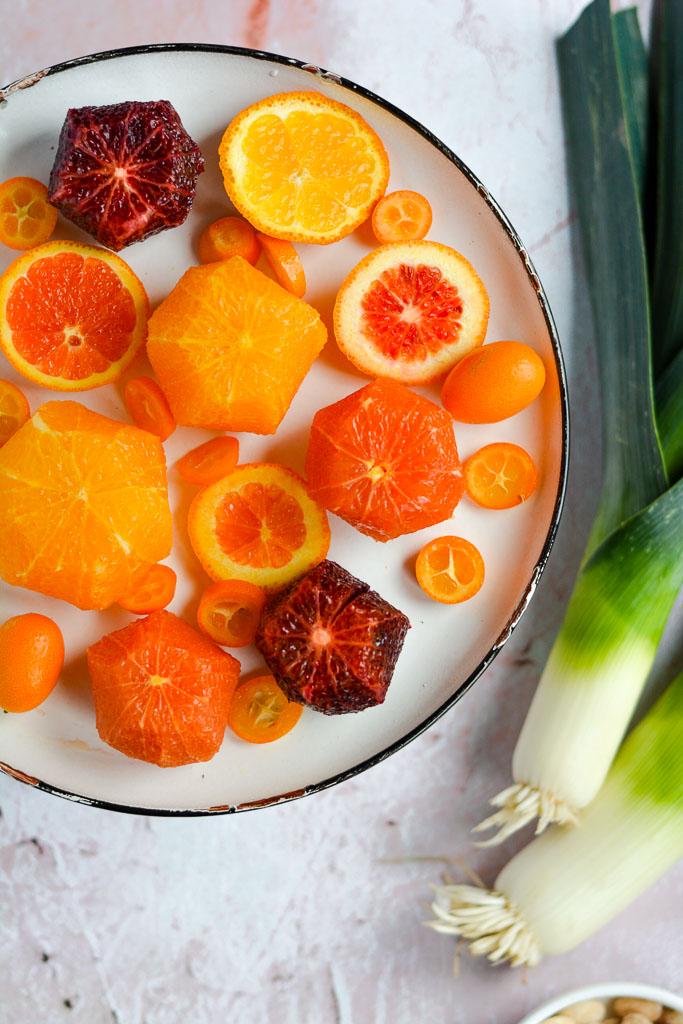 Cara cara oranges, blood oranges, navel oranges, and kumquats