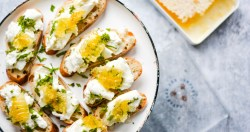 Honeyed Burrata Toasts