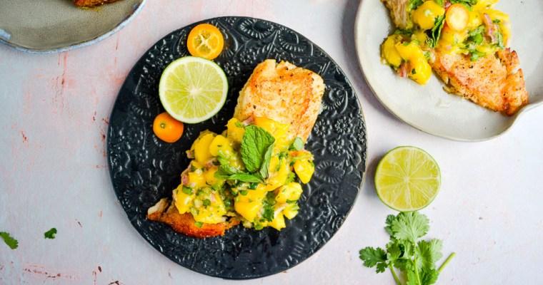 Tilapia with Mango Jalapeno Salsa