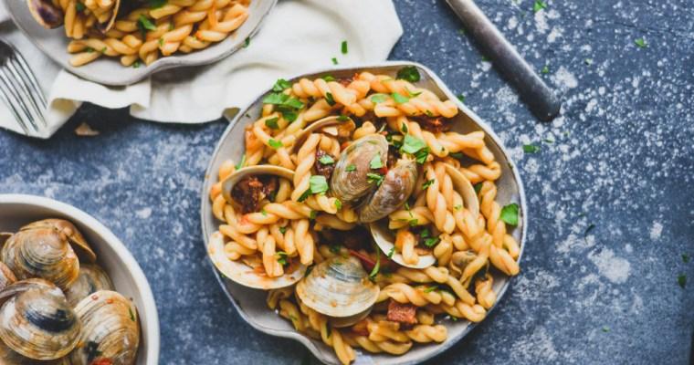 Spanish Clam and Chorizo Pasta