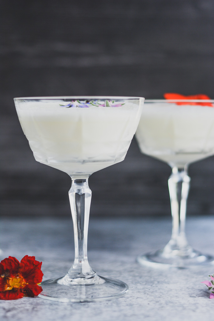 Gin Fizz mixed with Egg Whites