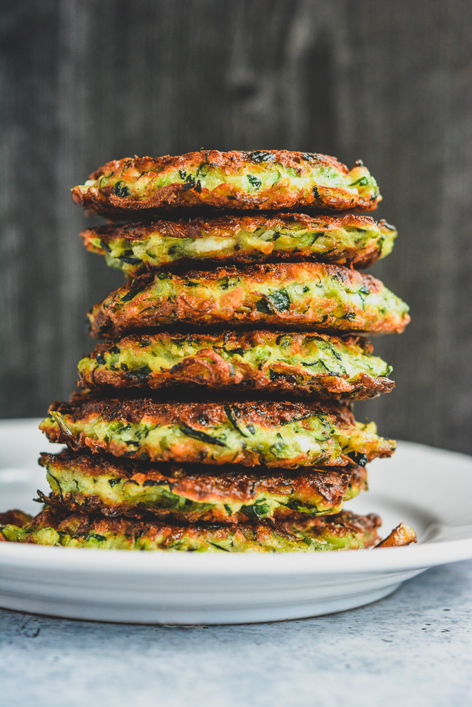 Stack of Greek Zucchini Fritters