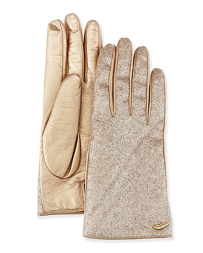 Neiman Marcus/Diane von Furstenberg sparkly leather gloves that I need in my life.