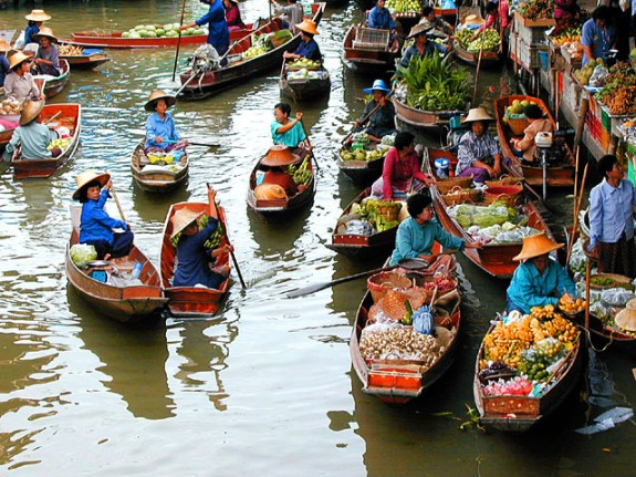 Floating market in Thailand (found on Google)