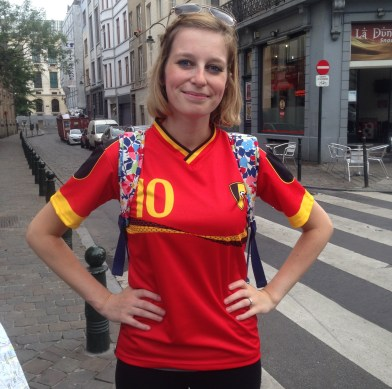 Go Belgium! Sadly they lost that game.